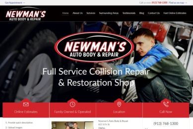 newmans auto body by longpeakmarketing.com